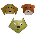 Hi-detail image of origami of animals Royalty Free Stock Images
