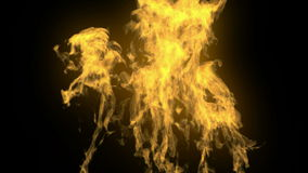 Hi detailed alpha mated fire stock footage
