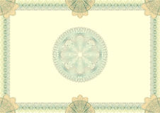 Hi detailed guilloche blank certificate Royalty Free Stock Image