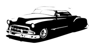 Hi-detailed silhouette retro styled low rider Royalty Free Stock Image