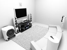 Hi-end audio system Royalty Free Stock Photo