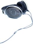 Hi-end stereo headphones. On white background Royalty Free Stock Images