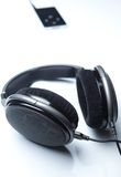 Hi-end stereo headphones Stock Photography