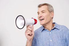 Hi everyone, listen to me ! Stock Image