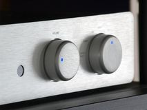 Hi-Fi [4]. The levers of volume and selection Royalty Free Stock Photos