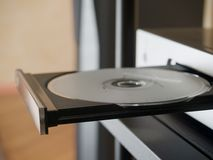 Hi-Fi [8]. The tray of CD player Royalty Free Stock Image
