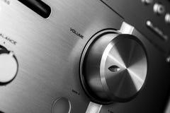 Hi-Fi amplifier volume knob Stock Photos