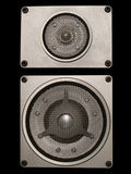Hi-fi audio speakers Royalty Free Stock Image