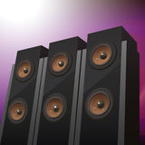 Three floorstanding speakers Royalty Free Stock Photo