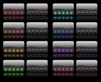 Hi-Fi buttons Stock Photography