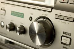 Hi-fi close-up. On volume button Stock Images