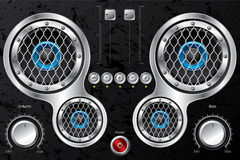 Hi fi design with instruments Royalty Free Stock Photo