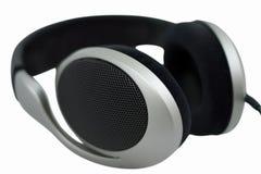 Hi-fi headphones. Isolated on white Stock Image