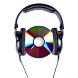Hi-Fi headphones and CD disc Royalty Free Stock Photo
