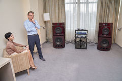 Hi Fi and High End Show in Moscow Royalty Free Stock Photography