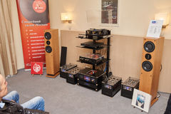 Hi Fi and High End Show in Moscow Stock Photos