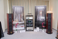 Hi Fi and High End Show in Moscow Stock Photo