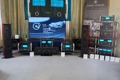 Hi Fi and High End Show in Moscow Royalty Free Stock Image
