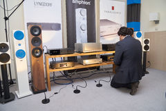 Hi Fi and High End Show in Moscow Stock Photography