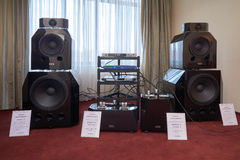 Hi Fi and High End Show in Moscow Royalty Free Stock Photos