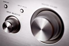 Hi-fi knobs Stock Images