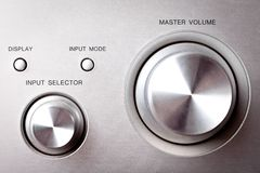 Hi-fi knobs Royalty Free Stock Photo