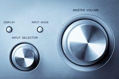 Hi-fi knobs Royalty Free Stock Images