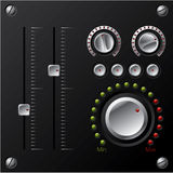 Hi-fi knobs with LED Stock Images