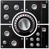 Hi-fi knobs with LED 2 Royalty Free Stock Photo