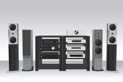 Hi-fi music 2 vector Stock Image