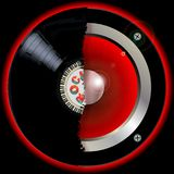 Hi Fi Musical Abstract Record Speaker Stock Images