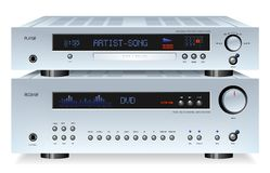 Hi-Fi rack Stock Photography