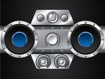 Hi fi set with speakers Royalty Free Stock Photography
