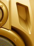 Hi-Fi speaker design. Close-up of a hi-fi speaker details and design royalty free stock photo