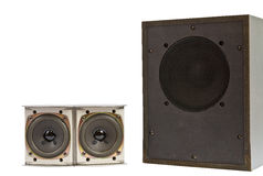 Hi fi speakers Royalty Free Stock Photo