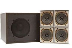 Hi fi speakers Stock Image