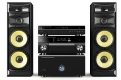 Hi-Fi stereo system Royalty Free Stock Photography