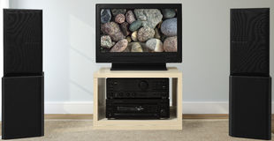 Hi-Fi system with speakers Stock Images