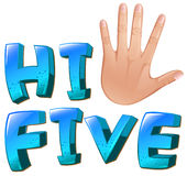 A hi-five artwork with a palm Stock Image
