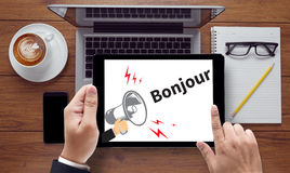 Hi Greet  hi Bonjour Ciao Hola Hello Royalty Free Stock Images
