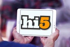 Hi5 het sociale embleem van de voorzien van een netwerkplaats Stock Afbeelding