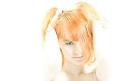 Hi-key redhead. Portrait Stock Photos
