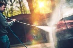 Hi Pressured Water Car Washing Stock Images