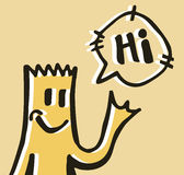 Hi puppet Stock Image