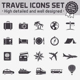 Hi quality travel vector icon set Stock Photo