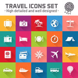 Hi quality travel vector icon set Royalty Free Stock Photos