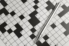 Blank Crossword Royalty Free Stock Photo