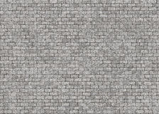 Hi-res grey small brick wall pattern Stock Image