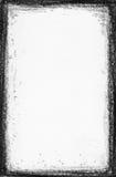 Hi res. - Handpaint Grunge black frame. Grunge black frame on white background Stock Images