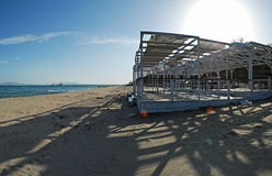 Hi-res panorama , beach of Burgas ,Bulgaria Royalty Free Stock Photography